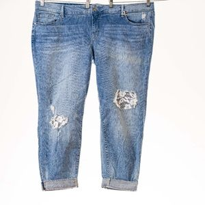 Torrid gorgeous  patch Jeans